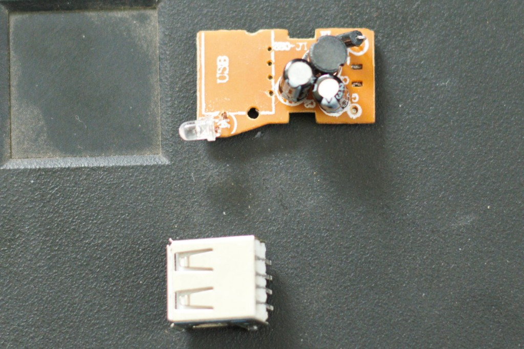 USB port removed from circuit board